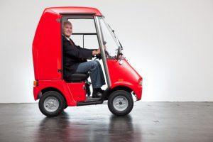 Elektromobil GC solo mit Kabine und Anhänger