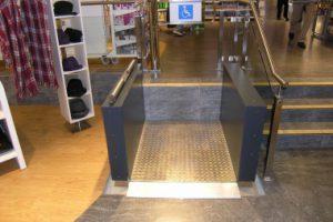 Bilder Hebelifte für Rollstuhl innen bis 180 cm