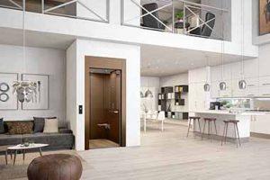Kabinenaufzug innen bei Einfamilienhaus über 1 Etage