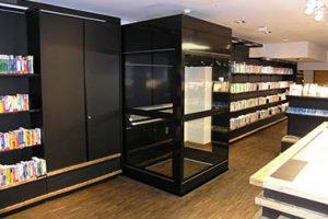 Homelift nachträglich einbauen lassen ohne Schachtkopf in Ladenlokal