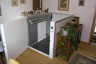 homelift der aufzug ohne unterfahrt und ohne berfahrt meico. Black Bedroom Furniture Sets. Home Design Ideas