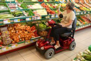 Seniorenmobil ohne Führerschein für mittlere Steigungen