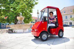 Elektrofahrzeug für Erwachsen mit Kabine