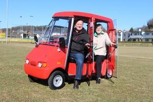 Elektromobil für 2 Personen mit Dach