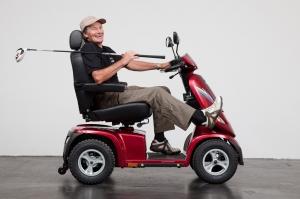 Seniorenmobil GC-9, elektro, für hohe Belastung, lange Strecken und grosse Steigungen
