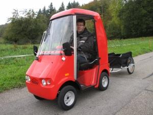 Seniorenfahrzeug GC solo, mit Kabine und Dach, auf Wunsch auch mit Anhänger lieferbar
