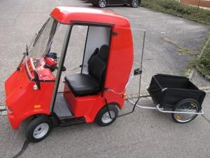 Elektromobil GC solo für Senioren, mit geschlossener Kabine, kann auch mit Anhänger geliefert werden