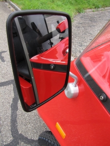 Rückspiegel des Elektrofahrzeugs GC solo, verstellbar, darf ohne Führerschein gefahren werden