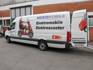 Unser Liefer- und Vorführfahrzeug für Elektromobile und Elektro Scooter für Senioren