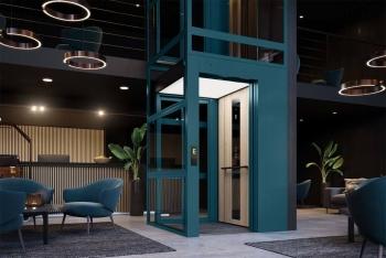 Kabinenlift C1 Futura in Hotellobby ohne Unterfahrt