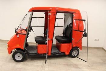 Der GC duett, ein 2-Sitzer Elektrofahrzeug mit grosser Reichweite, einfach wieder aufladbar
